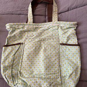 Thirty-one retro metro bag, green ditzy, NWOT